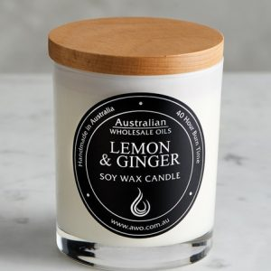 lemon and ginger candle