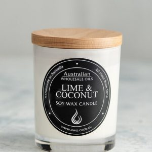 lime and coconut candle