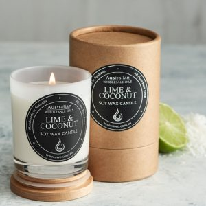 lime and cocnut candle