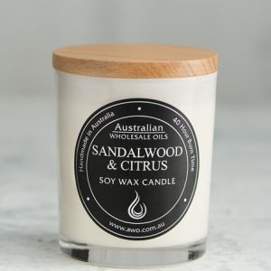 sandle wood citrus candle
